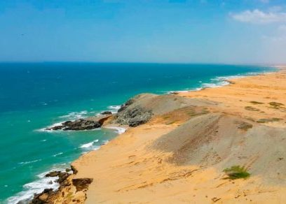 guajira beach desert